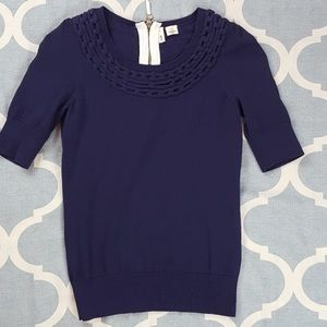 Anthropologie mouth short sleeve sweater
